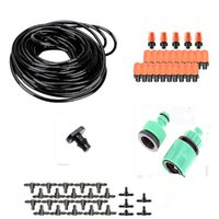 Wholesale Automatic Faucets - 15m Automatic Micro Drip Irrigation System Adjustable Dripper Faucet Sprinkler Spray Self Watering Kits For Garden Flowers BW03