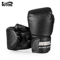 fitness sacs de sable achat en gros de-SUTENG 1 paire PU Boxe Kickboxing Formation Combat Gants de sacs de sable pour le combattant MMA Gants de boxe Équipement de conditionnement physique