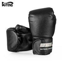 мешок с песком оптовых-SUTENG 1 пара PU бокс кикбоксинг обучение борьба мешок с песком перчатки для истребителя ММА боксерские перчатки фитнес-оборудование