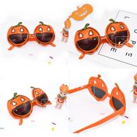 Wholesale orange eyeglasses resale online - Pumpkin Modelling Glasses Halloween Funny Birthday Party Supplies Dress Up Eyeglass Photograph Prop Spectacles Orange Hot Sale sf V