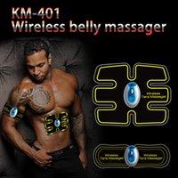 zehner ems massager großhandel-Drahtloser Bauchmuskeltrainer Smart EMS Elektrisches Pulsmassagegerät TENS Elektrotherapie Rückenschmerzen Linderung ABS Stimulator Massage