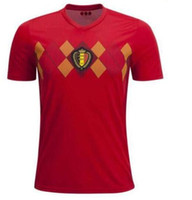 2018 World Cup Belgium Soccer Jersey short Sleeve Men 2018 red LUKAKU  FELLAINI E.HAZARD KOMPANY DE BRUYNE 18 Belgium football shirt ab8e12b61