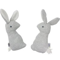 Wholesale paper christmas rings resale online - Cute Rabbit Hand Bells Baby Gift With BB Sound Playing Toy Christmas Plush Doll Kids Ringing Paper bx W