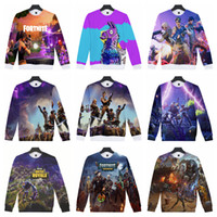game hoodies 2018 - Fortnite Sweatshirts 3D Print Game Fortnite Llama Hip Hop Hoodies 17 Styles Women Men Pullover Long Sleeve Hoodies Gym Clothing 60pc OOA5489