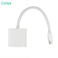 câble hd mini achat en gros de-15cm Mini DisplayPort Display Port DP Thunderbolt vers Femelle VGA HD TV Câble Adaptateur Pour iMac Mac Mini Mac Pro MacBook Air
