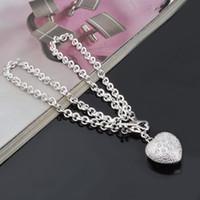 Wholesale plants sand - Silver Jewelry Pendant Fine Fashion Cute Sand Flower 925 jewelry silver plated Necklace Pendants Fashion gift necklace Top Quality