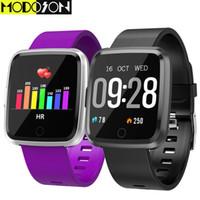 montre intelligente huawei achat en gros de-vente en gros Montre intelligente Y7 Fitness Tracker Smartwatch Bracelet Bluetooth pour Samsung huawei xiaomi apple iphone 7 8 X XS MAX XR
