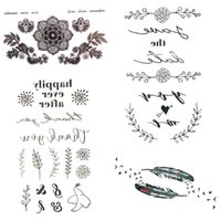 Wholesale temporary tattoos stickers words - Little Sexy Black Leaf Letter Word Fake Tattoo Women Hands Body Arm Art Temporary Tattoo Stickers Girl Chest Tatoo Summer Paste