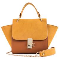 diseñador europeo tote al por mayor-Moda de estilo europeo bolsos femeninos PU bolso de cuero de las mujeres del diseñador del bolso de hombro grande Messenger Bag Tote Bags