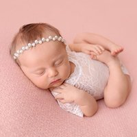 Wholesale lace petti jumpsuit - Newborn Baby Lace Romper Baby Girl Cute petti Rompers Jumpsuits Infant Toddler Photo Clothing Soft Lace Bodysuits 0-3M