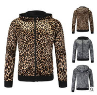 leopar erkek hoodie toptan satış-2017 New England erkek leopar Hoodie KAZAK MENS streç leopar Kapşonlu Ceket gelgit toptan