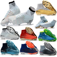 Wholesale Narrow Men Shoes - 2017 High Quality Mercurial Superfly V FG Champions CR7 Ronaldo Kids Youth Football Shoes Magista Obra Soccer Cleats Men Soccer Shoes