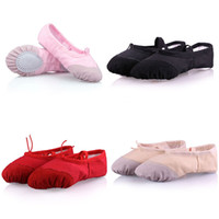 Wholesale ballet shoes girls - Kids women Dance shoes Soft bottom Ballet Shoes School Performance shoes With Pigskin toe Comfortable breathable Sneakers C4653