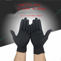 Wholesale glove static for sale - Group buy 100pcs pair Disposable Portable Glove Rubber Nitrile Eco Friendly Durable Security Soft Gloves Anti Static Slip Resistant KKA5685