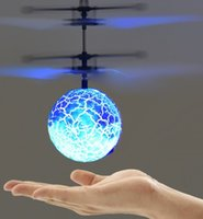 Wholesale best rc helicopters for sale - Group buy Luminous toy Flying RC Ball fly balls LED Light Aircraft Helicopter Induction LED lanterns Toys best gift drone Drop shipping