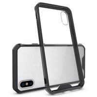 Wholesale Protective Plastic Bumper - For Galaxy S9 Plus iPhone 8 X Plus CellPhone Case Clear Hard Bumper Protective Cover for iPhone 6 7 Plus