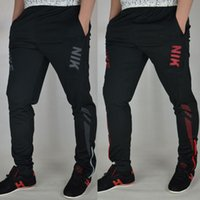 pantalones de gimnasia para hombres al por mayor-Jogger Pants Football Training 2017 Pantalones de fútbol Active Jogging Trousers Deporte Running Track GYM clothing Sweatpant de los hombres