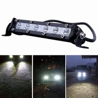 Wholesale led atv headlight - 24W Car LED Work Light Bar Led Chips Waterproof Offroad Car Work Bulb Headlight ATV SUV 4WD Boat Truck for Jeep BMW