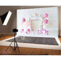 vinil zeminler toptan satış-Yeni Varış 1 adet 7x5ft Çocuk Doğum Günü için Vinil Fotoğraf Arka Plan Ballon Parti Arka Planında Fotoğraf Stüdyosu Sahne
