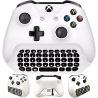 controlador microsoft venda por atacado-Mini Sem Fio 2.4G Mini Teclado Sem Fio Mensagem para o Controlador Microsoft Xbox One Chatpad para Xbox one