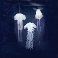denizanası lambaları toptan satış-Yeni Medusae Kolye Lambaları Glow Ethereal Denizanası Droplight Acaleph HangingLight