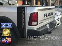 dodge decal venda por atacado-Para (2 Pcs) Dodge Ram Rebel 1500 5.7 L decalques lado listras adesivos de vinil Hemi Gráficos