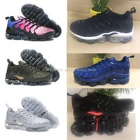 Wholesale Casual Male Sneakers - Vapormax TN Plus Olive Mens Sports Running Shoes Sneakers Men Run In Metallic White Silver Colorways For Male Shoe Pack Triple Black Casual