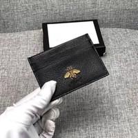 carteira da bolsa de couro venda por atacado-Couro genuíno dos homens de couro bolsa de moda Slim Coin Bag Business Bank ID titular do cartão de crédito preto carteira titular dinheiro bolso 2019 novo