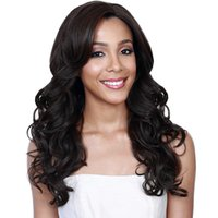 Wholesale full lace wigs online - Lace Front Human Hair Wigs Loose Wave Density Lace Frontal Wig Pre Plucked With Baby Hair Full Remy Black Perstar