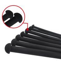 silikon üretral penis sesleri toptan satış-7 adet / grup Siyah Uzun 350mm Silikon Üretral Ses Penis Fiş Sondaj Üretral Fiş Kateter Yetişkin Ürün Erkekler Için Seks Oyuncakları