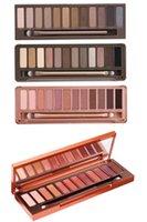 12 color eyeshadow palette venda por atacado-Maquiagem paleta de paleta de cores 12 cores 1 2 3 sombra de alta qualidade Hot 2017 frete grátis + PRESENTE