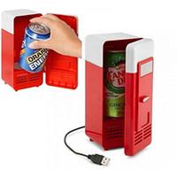 nevera pequeña nevera al por mayor-Mini refrigerador USB con interruptor frigorífico pequeño de uso dual frío y calor Mini refrigerador USB USB