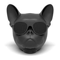 dog mp3 оптовых-2018 мода портативный Aero Bull Dog Bulldog Bluetooth 4.1 беспроводной динамик стерео сабвуфер, совместимый с TF карта