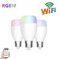 Wholesale Wireless Musical Lights - 6W E27 240V WIFI LED Light Bulb Support Echo Alexa Voice Lamp Wireless Home Automation Dimmable Musical Lamp RGB Colors