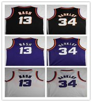 Wholesale men s basketball 13 online - Men s Steve Nash Jersey Charles Barkley Jersey Stitched Purple Black Mens College Steve Nash Basketball Jerseys