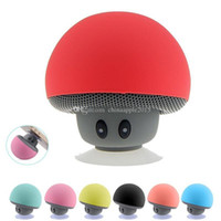 Wholesale pad readers - Portable Bluetooth Speaker Wireless Handsfree Mushroom Speaker With Sucking Disc Bracket for iphone samsung MP3 pad tablet pc with retail