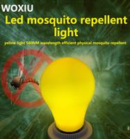 sarı led ampul e27 toptan satış-WOXIU led bitki büyüme Sivrisinek katili ampuller etkili anti uçan böcek güveler kovucu avize ışıkları sarı E27 7 w 110-260 V