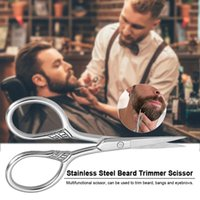 ingrosso trimmer di bocce-Acciaio inossidabile Barba Trimmer Scissor Mini Size Rasatura Barba Trimmer Sopracciglio Bang Scissor Taglio per Barbiere Uso Domestico