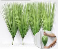 Wholesale Simulation Grass - Artificial leave simulation grass leaf onion grass silk flower decoration flower arranging lawn engineering simulation plants AP006