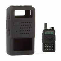 ingrosso baofeng uv 5r case-Custodia protettiva in silicone nero per Baofeng UV-5R / UV-5RA / UV-5R Plus / UV-5RE / UV-5RC / F8 + HP GT-3TP Walkie Talkie Ham Radio