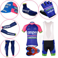 Wholesale lampre team clothes for sale - Summer Breathable Pro Team LAMPRE MERIDA Cycling Jersey Set Men Bicycle Sportswear Male Quick Dry Mtb Bike Clothing Cycle Clothes Y