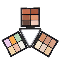 Wholesale Bright Palette - New China Brand HUAMIANLI Bright and Attractive 6color Concealer Palette 3 style Face Contour palette High quality DHL shipping