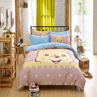 Wholesale Duvet Covers For Kids - Wholesale- 2016 New fashion Printing Children 3D Cartoon Bedclothes Duvet Cover Set Bed Sheet For Children Kids Bedding Sets gife