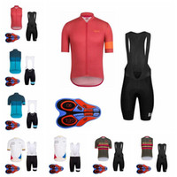Wholesale cycling kits - RAPHA Cycling Short Sleeves jersey bib shorts Sleeveless Vest sets Road Ride Bike Wear kit Cycling Clothing Sportswear