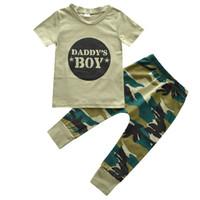 mädchen harem hosen sets großhandel-Neue Europäische Station Boy 2 Sets von Militär Camouflage Kurzarm Anzug Mädchen Haarband Set Tooling Harem Pants 3 Sätze