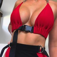 büstenhalter für bustier frau großhandel-2018 neue Mode Frauen vorne Schnalle Bralette Bustier Bh Bustier Crop Top ungepolsterten Tank freie Größe