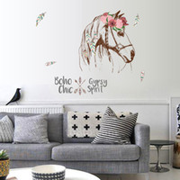 Wholesale Wall Decals Horses - Wholesale-horse wall sticker boho chic home decor animals gypsy spirit wall decal