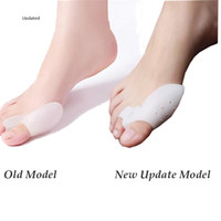 protetores de toe de silicone venda por atacado-DHL navio Gel de Silicone dedos do pé Toe Separador Thumb Valgo Protetor Joanete ajustador Hálux Valgo Guarda pés cuidados