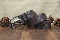 Wholesale plaid leather belt - men luxury belts designer belts for men big buckle belt male chastity belts top fashion mens leather belt wholesale free shipping