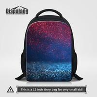 mochilas menina única venda por atacado-Galáxia 3D Criança Mochilas Universo Único Sacos De Escola Do Espaço Para O Jardim de Infância 12 Polegada Crianças Mochilas Escolar Meninas Moda Bagpacks Pack